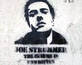 Joe Strummer - The Future Is Unwritten Stencil Street Art , London  Fine Art Photograph limited edition print
