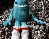 Handmade Knit Sock Monster