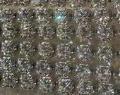 4MM Swarovski Crystal Rhinestone Chain Clear Silver 19ss By the foot