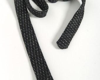 """On Sale: Mens tie, handmade in 100% Wool. Skinny, square end cut. """"TB"""" design."""