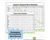 Vaccination Shot Record Personalized and Customized Printable