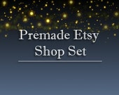 Etsy Banner and Avatar Shop Set Branding Fireflies Stars Night Candles Soothing Relaxed