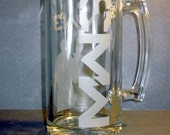 MW3 Etched Glass Beer Mug: Modern Warfare 3 Inspired Etched Glass Stein. MW3 Gifts