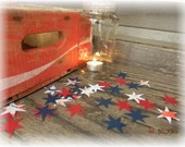 Stars & Stripes Independance Day Red White Blue confetti for 4th of July holiday