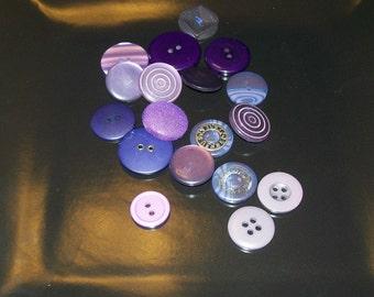 18 Purple Vintage Buttons