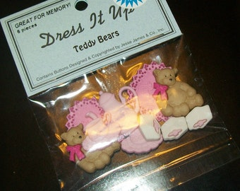Teddy Bear Picnic Buttons