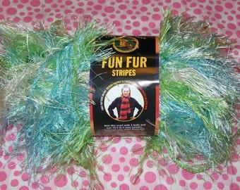 South Beach Fun Fur, Green Fun Fur, Blue Fun Fur, Knitting