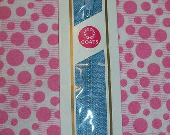 7 inch Polyester All-Purpose Zipper 4 Blue, Blue Zipper