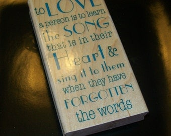 To Love Rubber Stamp