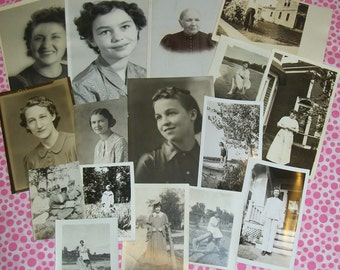 Vintage Photos Paper Ephemera - Women