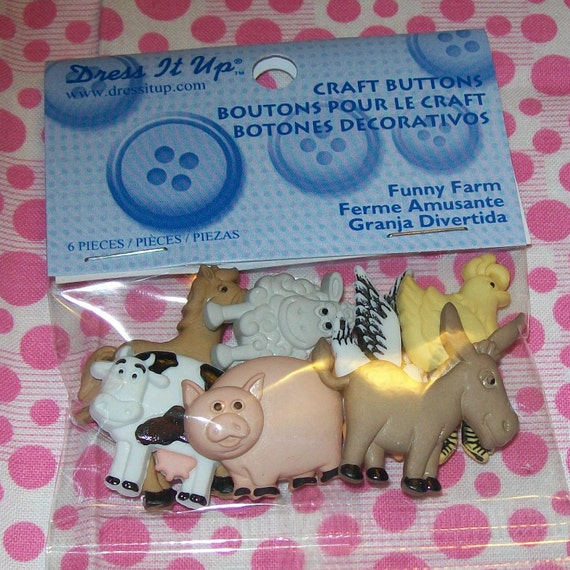 Funny Farm Buttons