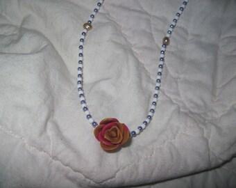 Elegant rose necklace