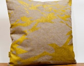 Pillow sham silkscreen 50x50 cm linen and cotton.