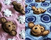 Baby Blanket Crochet Pattern Baby Girl Blanket Baby Boy Blanket Newborn Baby Blanket Crochet Baby Blanket PDF Instant Download Monkey Flower