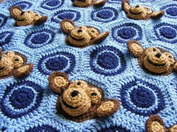 Crochet Baby Blanket Patterns On Etsy : Crochet Baby Blanket Pattern Instant Download Crochet Pattern