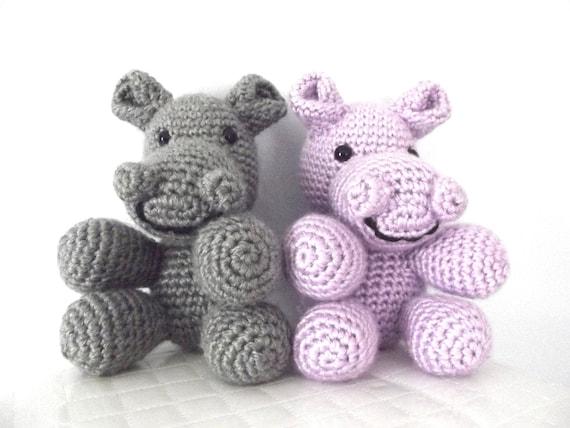 Plush Hippo Crochet Pattern Crochet Hippo Pattern Stuffed Animal Childrens Toy Hippo Toy Amigurumi Crochet Hippopotamus Instant Download