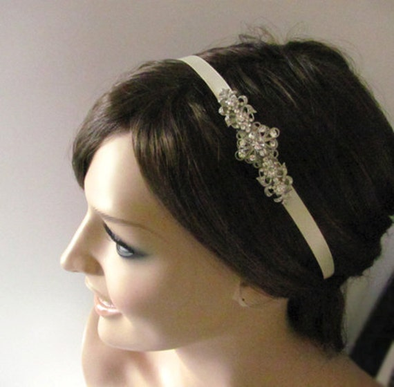Swarovski crystal Bridal headband - crystal headpiece - vintage style bridal headband