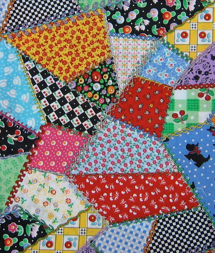 Crazy Quilt Pattern Fabric : Mary Engelbreit fabric Crazy quilt print 11