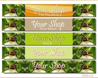 Your Shop Banner. Butterfly