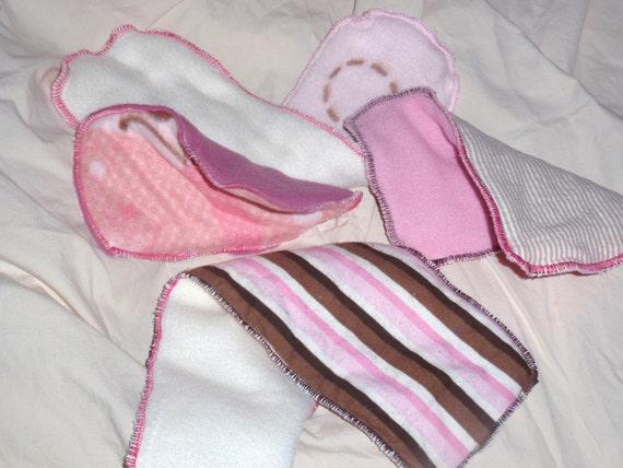 Pretty in Pink Diaper Inserts - Set of 4