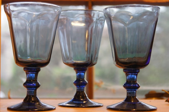 Vintage lenox antique dark blue lenox crystal wine juice glass - Lenox colored wine glasses ...