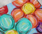 "Acrylic Flower Painting on Canvas (8"" X 10"")"