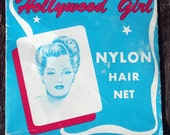 Vintage Hair Net Hollywood Girl Bob Size Auburn DuPont Nylon Hairnet Fine Strand Antique Mad Men Pinup Pin-up