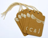 Wedding Favor Gift Tags With Bunting