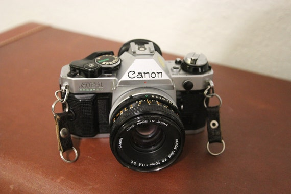 Canon AE-1 Program Vintage 35 MM Camera with 50 MM Lens