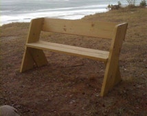 Dad's Bench PLAN, Outdoor bench, Wood Bench, Aldo Leopold Bench, Park Bench Cabin Lake Bench.  Plan.  Not the physical Bench.