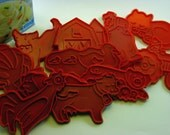 Vintage Classic Cookie Cutters Old Mcdonald set 1979