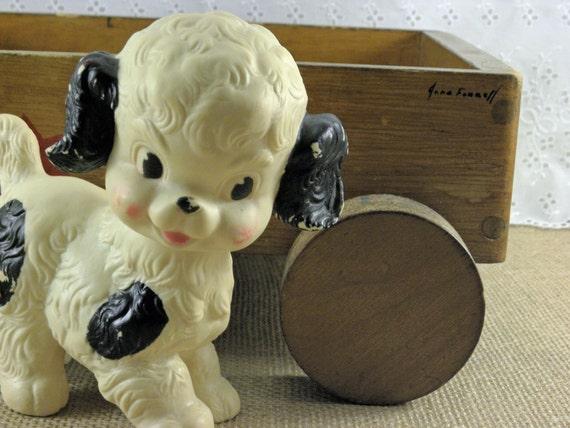Toddler Toys Black And White : Vintage squeaky toy black and white baby dog from the sun
