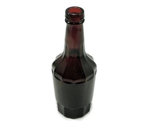 Vintage Wheaton NJ Bottle Ruby Red Bitters Medicine Bottle