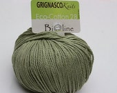 Green Grignasco Bioline 28 - ECO Cotton - 140m/50gr - organic cotton yarn