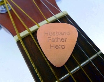 Personalized Guitar Pick - Engraved Copper Guitar Pick - Husband - Father-  Boyfriend Gift, , Husband gift,  Husband, Anniversary