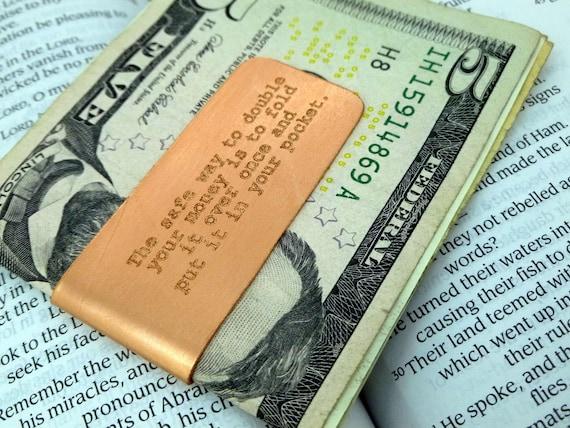 Engraved Copper Money Clip - Personalized-  Boyfriend Gift, , Husband gift,  Summer Sale, Husband, boyfriend