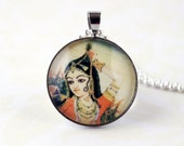 The Dancer- Indian Art Inspired Pendant Necklace.