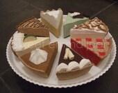 Felt Play Food Pattern - Pies - Pattern PDF - DIY Felt Food