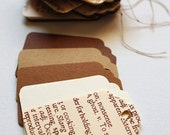 Earth-Tone Paper Gift Tags (120pc)
