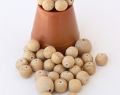 9mm-15mm Natural Wooden Beads
