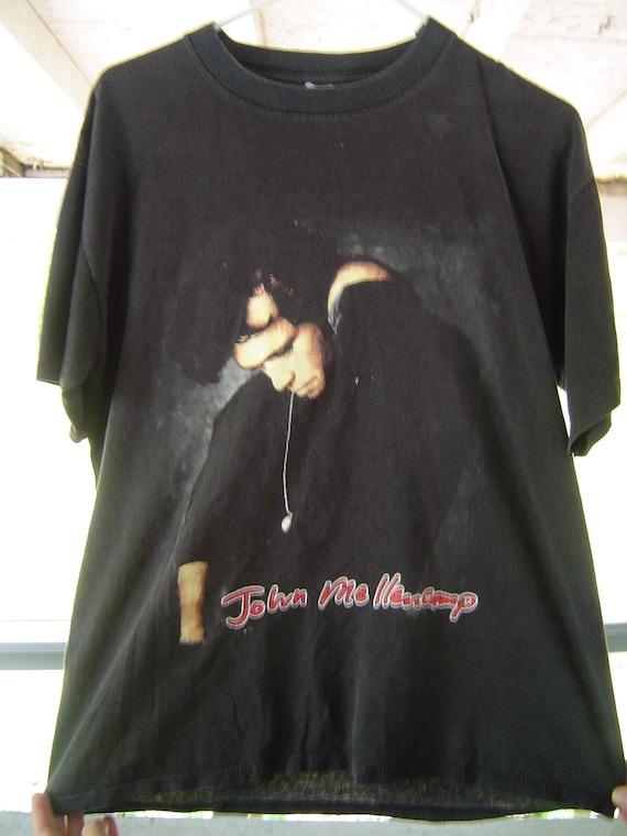 VINTAGE black JOHN MELLENCAMP T shirt 100% cotton