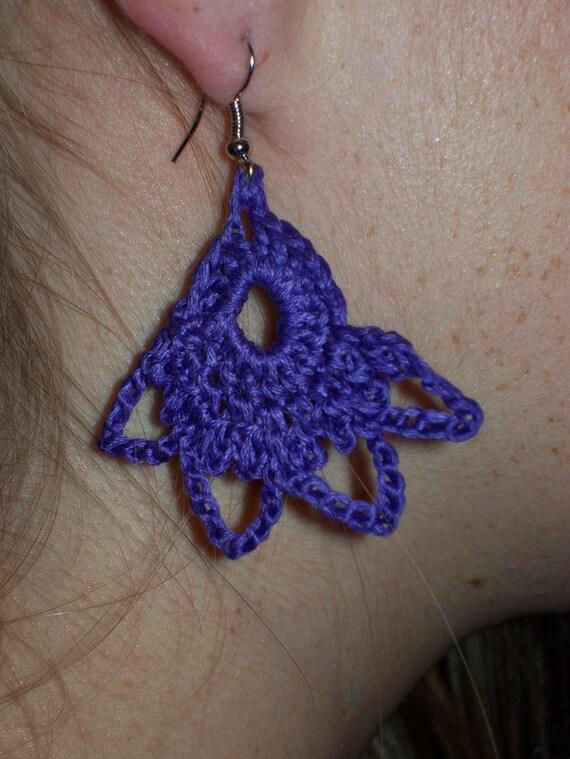 Purple Passion Crocheted Earrings