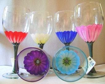 Gerber Daisy Wine Glass