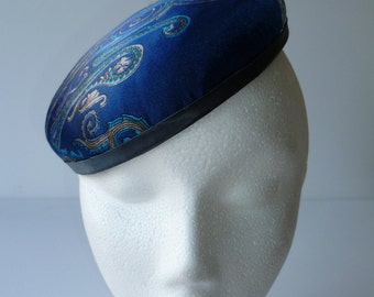 REDUCED   Blue paisley decorated hat