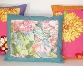 PILLOW - Unique pillows - Summer Garden Flowers in a Set of Three