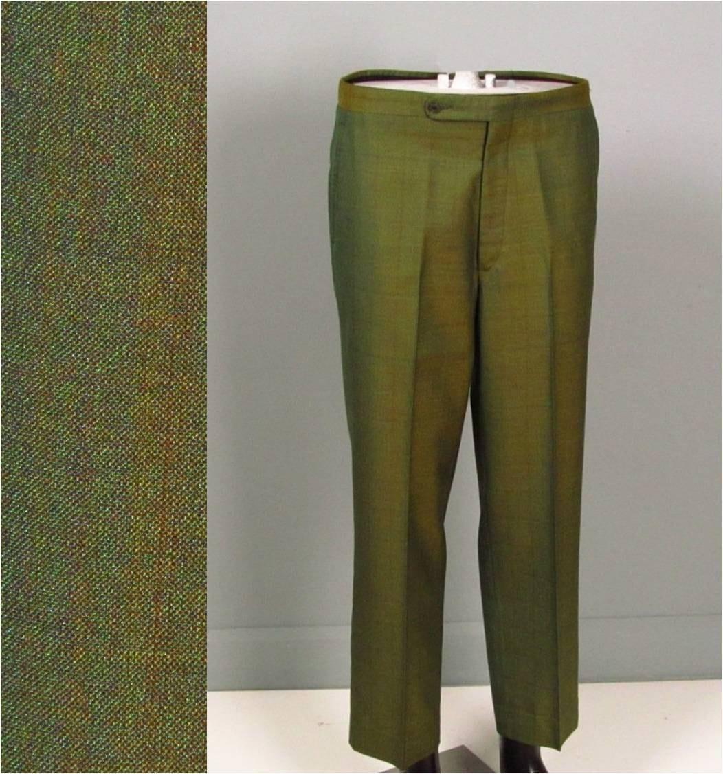 Vintage Mens Pants Trousers 1950s 1960s TRUE SHARKSKIN Preppy