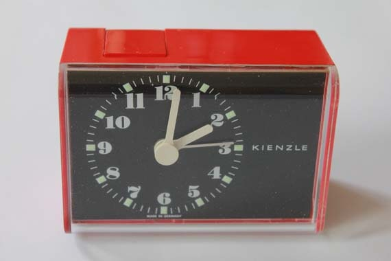 Vintage/Retro Red Kienzle Alarm Clock (battery operated)