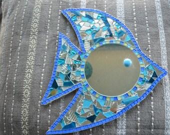 fish mosaic mirror