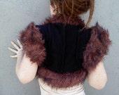 Fur vest, Faux Fur Shrug, Boho Gypsy Vest