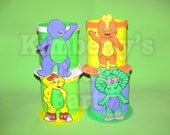 4 Barney and friends Centerpieces